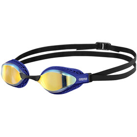 arena Airspeed Mirror Okulary pływackie, yellow copper/blue